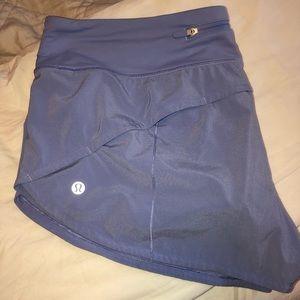 lululemon size 10 speed up shorts